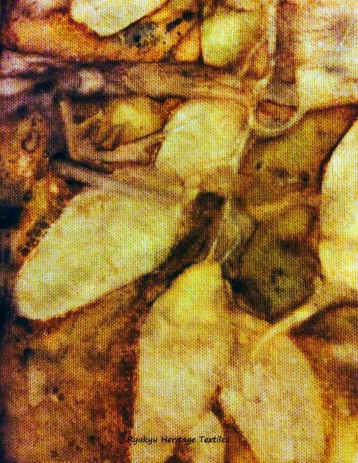 """Brazilwood"" - Windfallen Leaves on Linen"